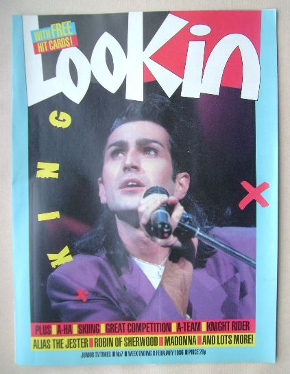 <!--1986-02-08-->Look In magazine - Paul King cover (8 February 1986)