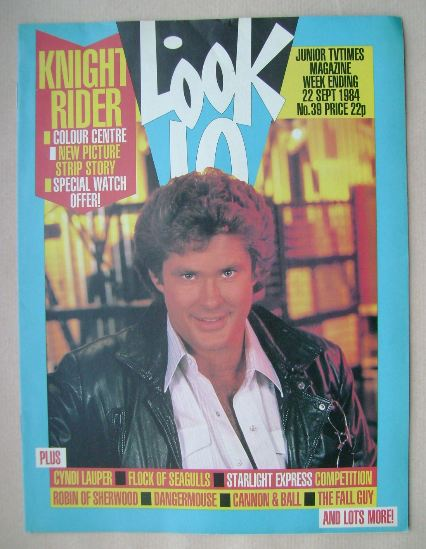 <!--1984-09-22-->Look In magazine - David Hasselhoff cover (22 September 19