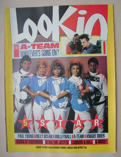 <!--1986-03-01-->Look In magazine - 5 Star cover (1 March 1986)