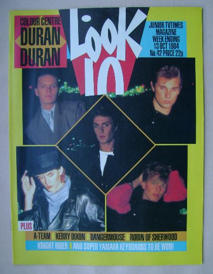 <!--1984-10-13-->Look In magazine - Duran Duran cover (13 October 1984)