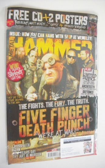 <!--2015-08-01-->Metal Hammer magazine - Five Finger Death Punch cover (Aug