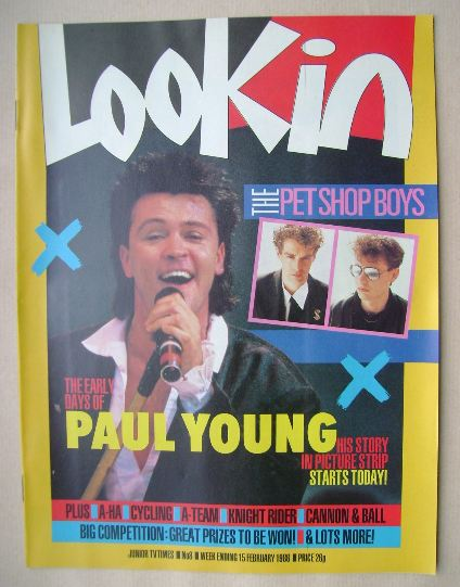 <!--1986-02-15-->Look In magazine - Paul Young cover (15 February 1986)