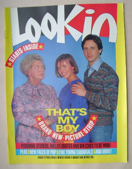 <!--1986-03-15-->Look In magazine - That's My Boy cover (15 March 1986)