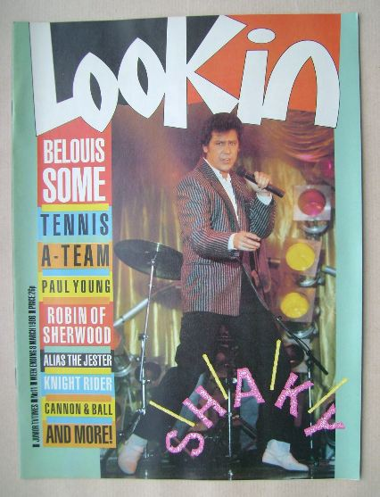 <!--1986-03-08-->Look In magazine - Shakin' Stevens cover (8 March 1986)