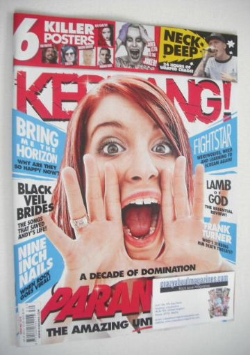 <!--2015-07-25-->Kerrang magazine - Paramore cover (25 July 2015 - Issue 15