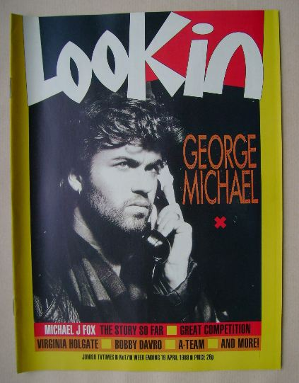 <!--1986-04-19-->Look In magazine - George Michael cover (19 April 1986)