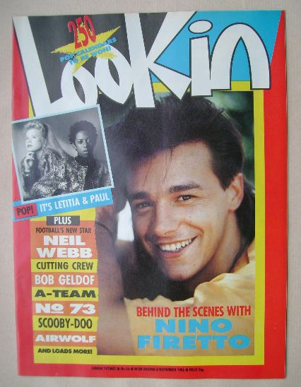 <!--1986-11-08-->Look In magazine - Nino Firetto cover (8 November 1986)
