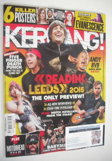 <!--2015-08-29-->Kerrang magazine - Reading and Leeds Preview cover (29 Aug