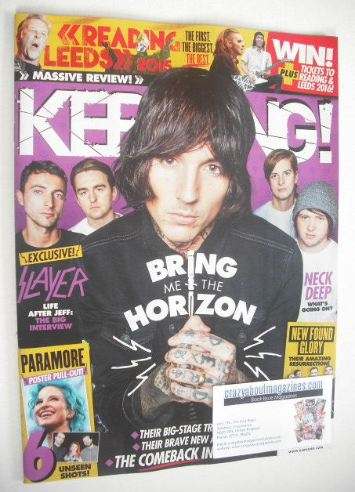 <!--2015-09-05-->Kerrang magazine - Bring Me The Horizon cover (5 September