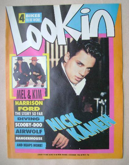 <!--1986-12-06-->Look In magazine - Nick Kamen cover (6 December 1986)