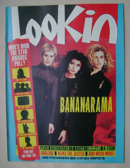 <!--1986-09-13-->Look In magazine - Bananarama cover (13 September 1986)