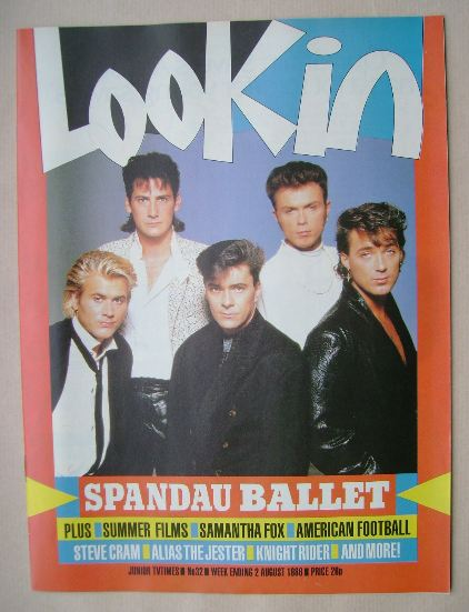 <!--1986-08-02-->Look In magazine - Spandau Ballet cover (2 August 1986)