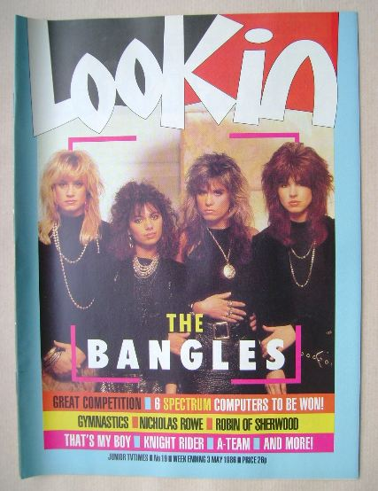 <!--1986-05-03-->Look In magazine - The Bangles cover (3 May 1986)