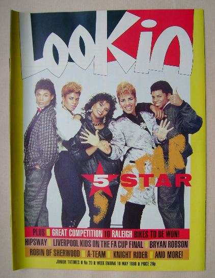 <!--1986-05-10-->Look In magazine - 5 Star cover (10 May 1986)