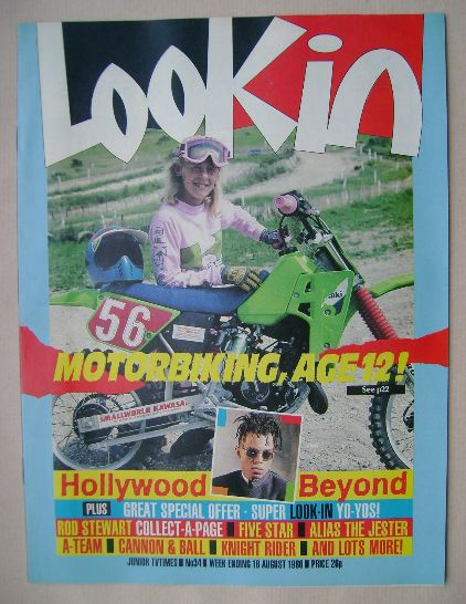 <!--1986-08-16-->Look In magazine - Zoe Gregory cover (16 August 1986)