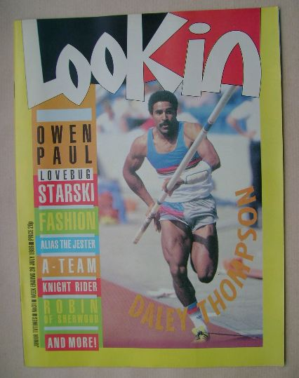 <!--1986-07-26-->Look In magazine - Daley Thompson cover (26 July 1986)