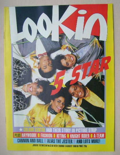 <!--1986-08-09-->Look In magazine - 5 Star cover (9 August 1986)