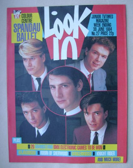 <!--1984-06-30-->Look In magazine - Spandau Ballet cover (30 June 1984)
