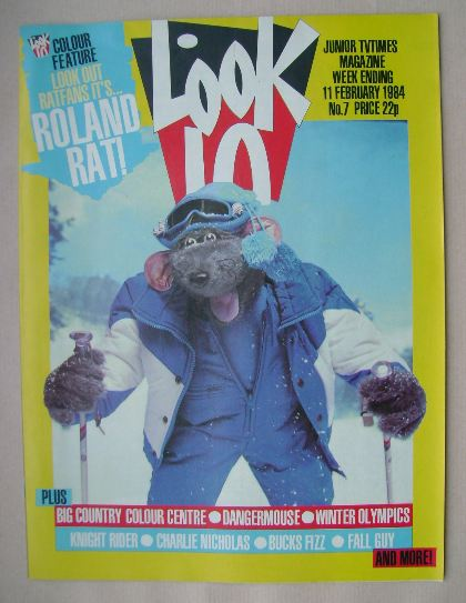 <!--1984-02-11-->Look In magazine - Roland Rat cover (11 February 1984)