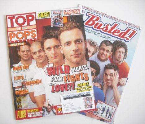 <!--2001-08-->Top Of The Pops magazine - Five cover (August 2001)