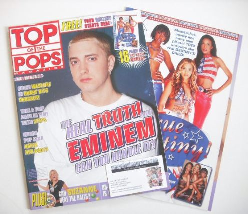 <!--2001-09-->Top Of The Pops magazine - Eminem cover (September 2001)