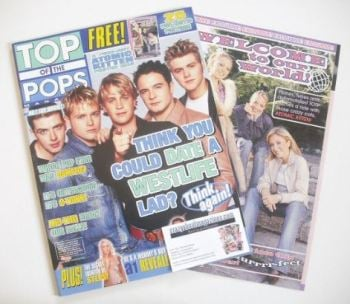 Top Of The Pops magazine - Westlife cover (October 2001)