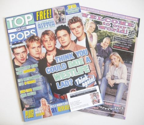 <!--2001-10-->Top Of The Pops magazine - Westlife cover (October 2001)