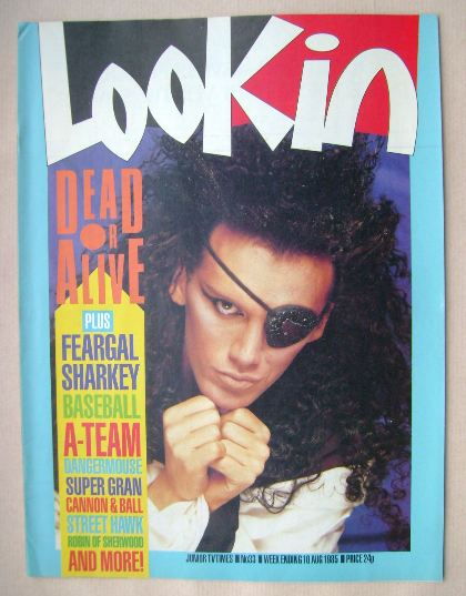 <!--1985-08-10-->Look In magazine - Pete Burns cover (10 August 1985)