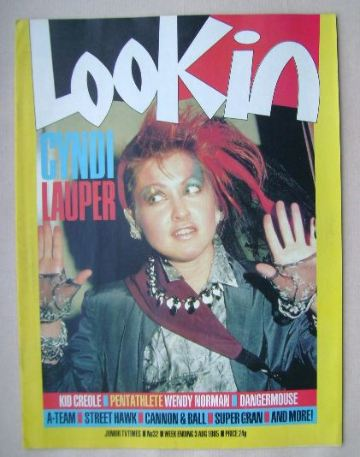 <!--1985-08-03-->Look In magazine - Cyndi Lauper cover (3 August 1985)
