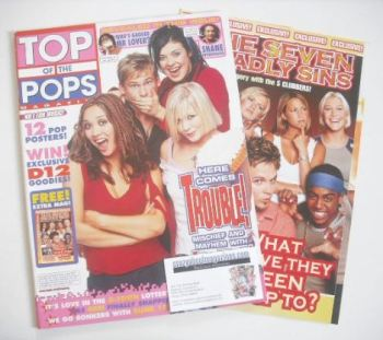 Top Of The Pops magazine - Here Comes Trouble cover (November 2001)