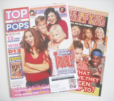 <!--2001-11-->Top Of The Pops magazine - Here Comes Trouble cover (November