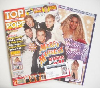 Top Of The Pops magazine - A1 cover (December 2001)