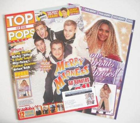 <!--2001-12-->Top Of The Pops magazine - A1 cover (December 2001)