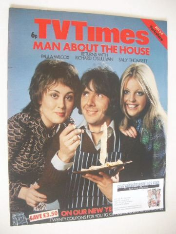 <!--1974-01-05-->TV Times magazine - Man About The House cover (5-11 Januar