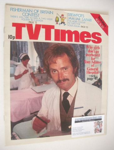 <!--1975-08-16-->TV Times magazine - Tony Adams cover (16-22 August 1975)