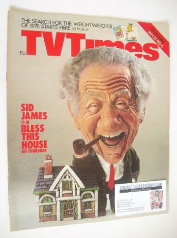 <!--1976-01-31-->TV Times magazine - Sid James cover (31 January - 6 Februa