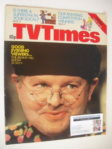 <!--1975-05-24-->TV Times magazine - Benny Hill cover (24-30 May 1975)