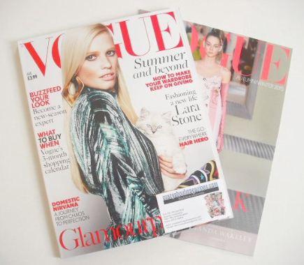 <!--2015-08-->British Vogue magazine - August 2015 - Lara Stone cover