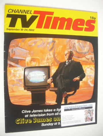 <!--1982-09-18-->CTV Times magazine - Clive James cover (18-24 September 19