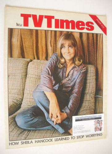 <!--1971-01-16-->TV Times magazine - Sheila Hancock cover (16-22 January 19