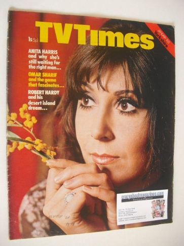 <!--1971-01-09-->TV Times magazine - Anita Harris cover (9-15 January 1971)