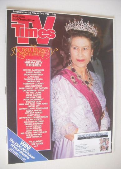 <!--1987-11-28-->TV Times magazine - Queen Elizabeth II cover (28 November