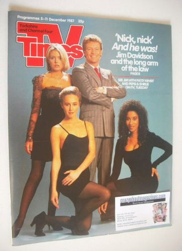 <!--1987-12-05-->TV Times magazine - Jim Davidson cover (5-11 December 1987