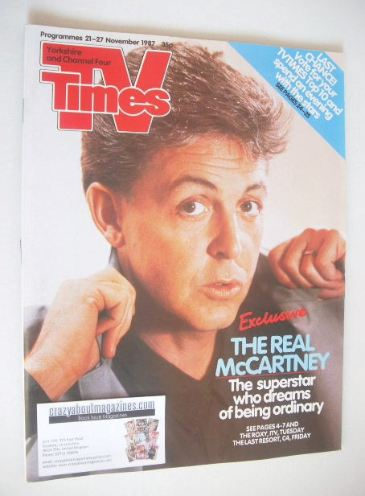 <!--1987-11-21-->TV Times magazine - Paul McCartney cover (21-27 November 1