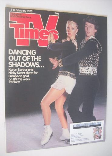 <!--1985-02-02-->TV Times magazine - Karen Barber and Nicky Slater cover (2