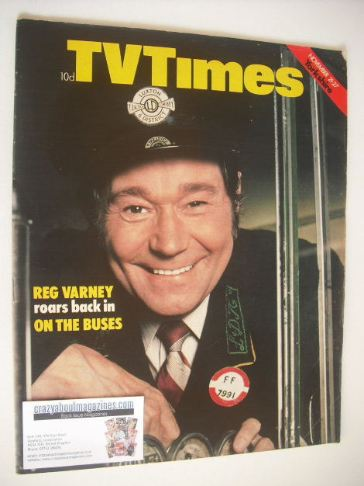 <!--1970-11-21-->TV Times magazine - Reg Varney cover (21-27 November 1970)