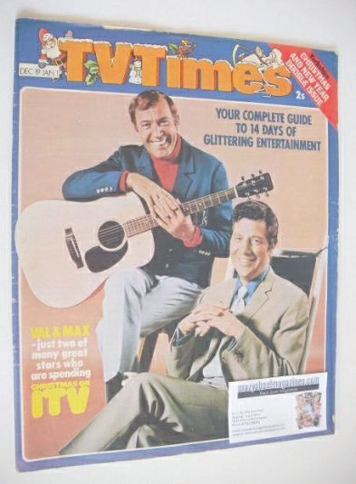 <!--1970-12-19-->TV Times magazine - Val Doonican and Max Bygraves cover (1