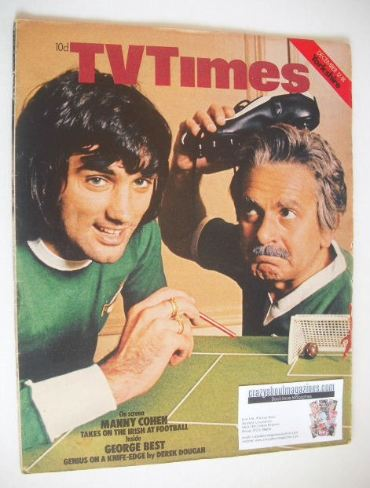 <!--1970-12-12-->TV Times magazine - John Bluthal and George Best cover (12