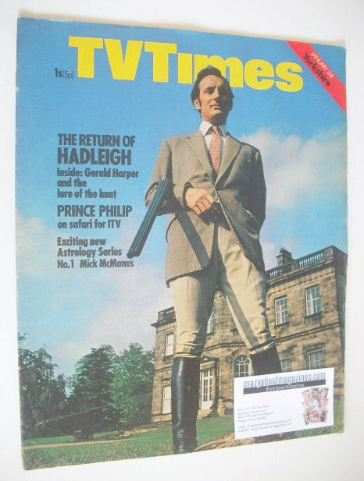 <!--1971-01-02-->TV Times magazine - Gerald Harper cover (2-8 January 1971)