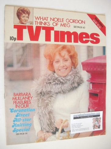 <!--1975-05-10-->TV Times magazine - Barbara Mullaney cover (10-16 May 1975